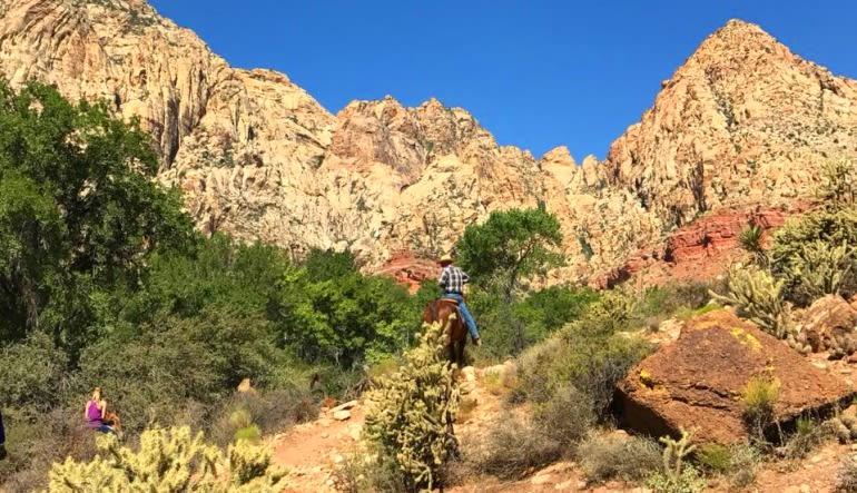 Wild West Horseback Riding Las Vegas - Lunch Ride Landscape