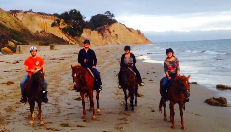 Horseback Riding on a Beach at Santa Barbara - 1.5 Hours