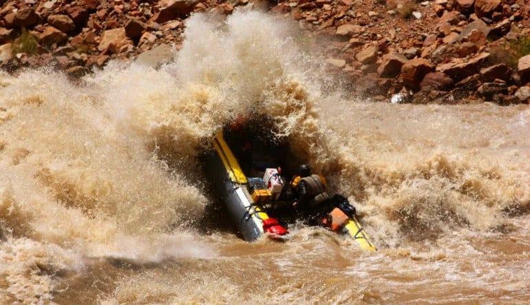 Whitewater Boating Expedition, Cataract Canyon Splash