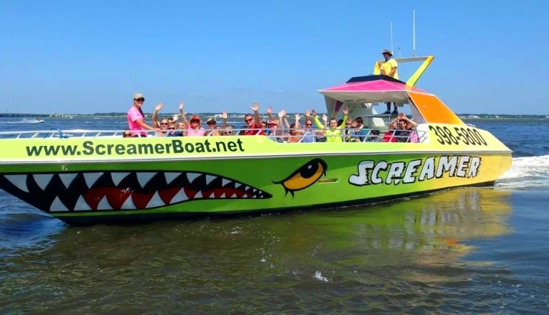 Speed Boat Ride and Dolphin Watch Ocean City Green