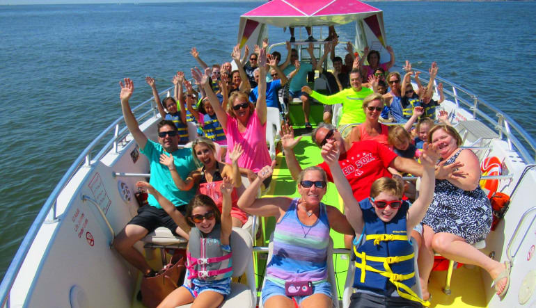 Speed Boat Ride and Dolphin Watch Ocean City Group