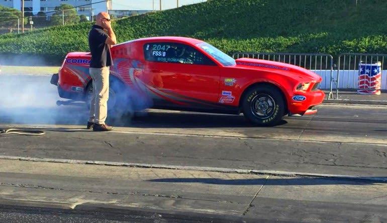 Mustang Drag Racing, Ride Along Smoke