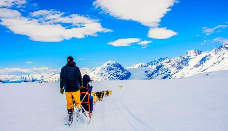 Helicopter and Glacier Dogsled Tour