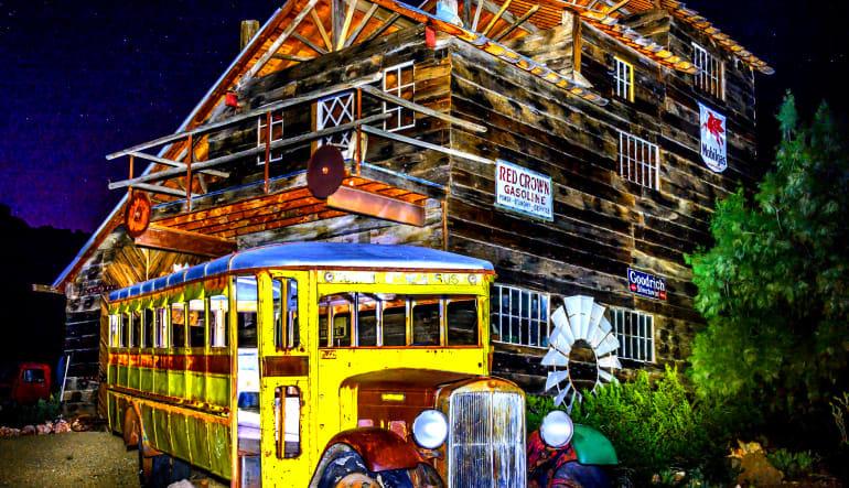 Eldorado Canyon Mine Coach Bus Tour from Las Vegas Old Bus