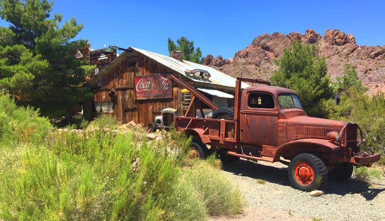 Eldorado Canyon Mine Coach Bus Tour from Las Vegas Old Truck