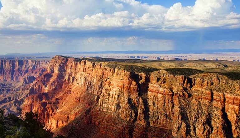 Motor Coach Bus Tour to Grand Canyon West Rim From Las Vegas With Helicopter Flight Landscape