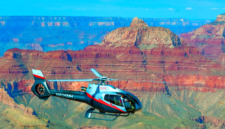 =Grand Canyon South Rim Coach Bus and Helicopter Tour from Phoenix Aircraft