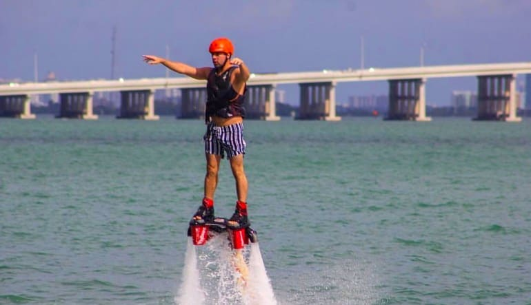 Flyboarding Miami, Sea Isle Marina Man