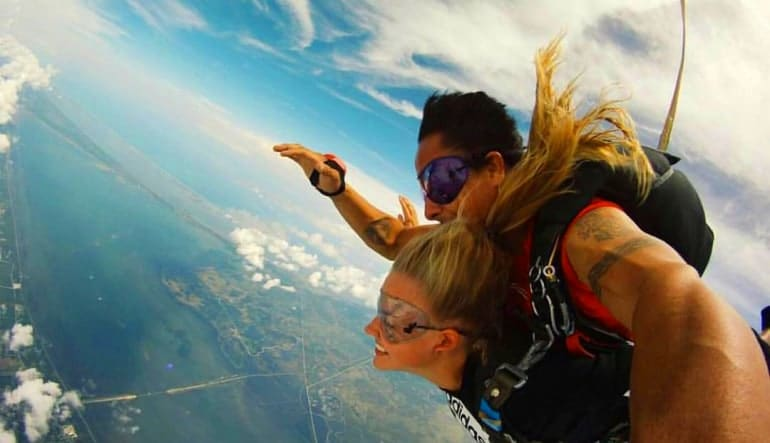 Skydive Orlando, Titusville - 18,000ft Jump Lady