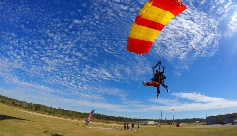 Skydive New Orleans - 10,500ft Jump Landing
