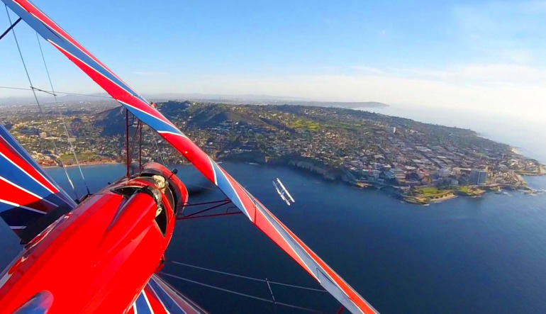 Aerobatic Biplane Flight San Diego - 45 Minutes Views