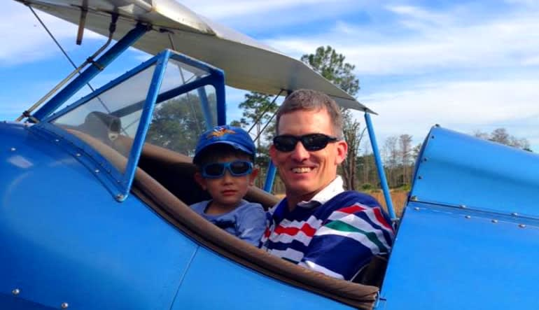 Biplane Aerobatic Flight Cocoa Beach - 17 Minute Flight Father & Son
