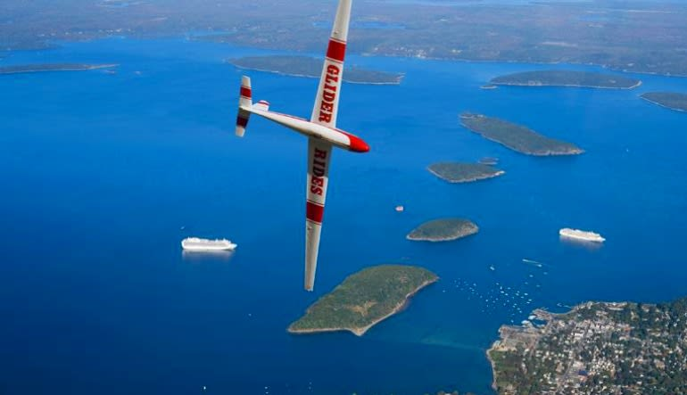 Glider Flight Acadia for 2, 5,500ft - 45 Minutes Views
