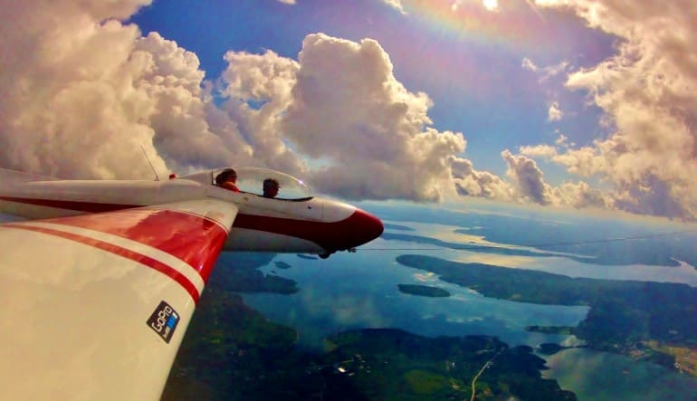 Glider Flight Acadia for 2, 4,000ft - 35 Minutes Clouds