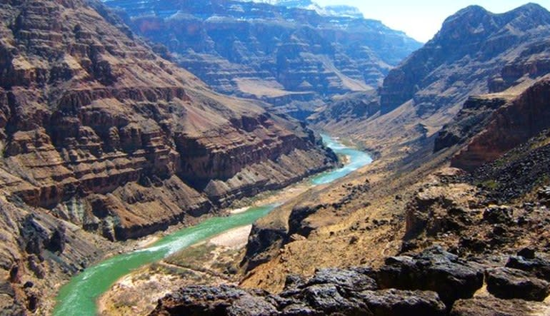 Grand Canyon North Plane and 4x4 Tour  River