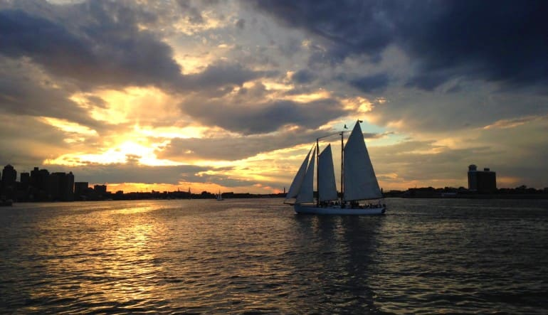 Boston Harbor Twilight Sail, City Lights