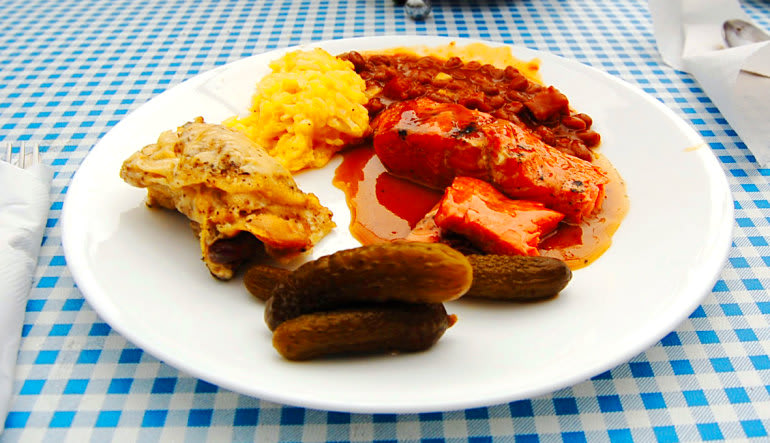 The Ultimate Juneau Experience, Whale Watching and Gold Creek Salmon Bake Plate