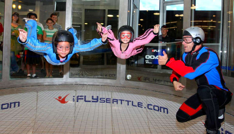 Indoor Skydiving Seattle - 2 Flights Children