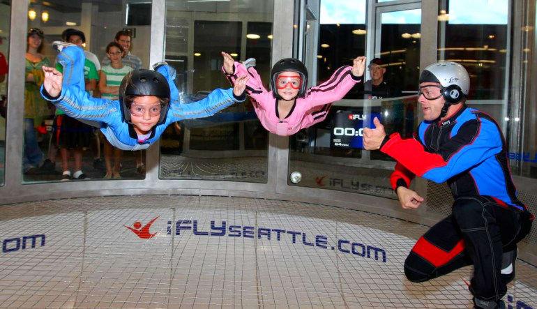 Indoor Skydiving Seattle - 2 Flights Children