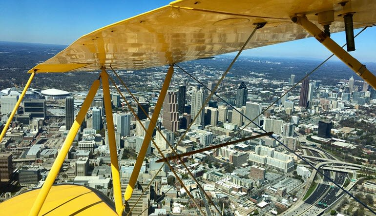 Biplane Scenic Flight Atlanta - 25 Minute Flight Wing