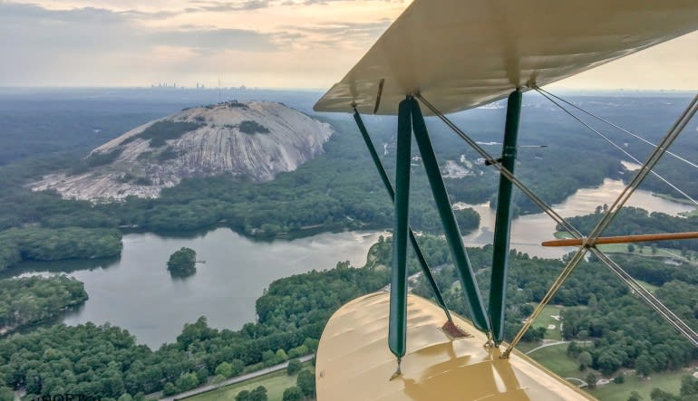 Biplane Ride Atlanta, Downtown and Stone Mountain Tour
