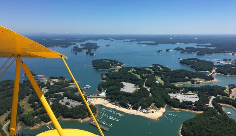 Biplane Ride Atlanta, Downtown, Stone Mountain and Lake Lanier