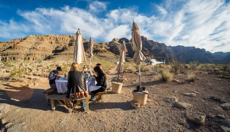 Helicopter Tour Grand Canyon, Floor Landing and Champagne Picnic - 4 Hours Picnic