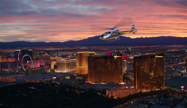 Las Vegas Helicopter Ride, City Lights Tour Sundwon