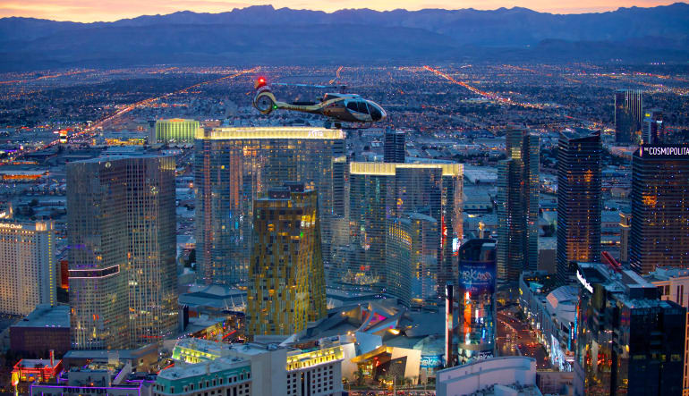 Las Vegas Helicopter Ride, City Lights Tour Night