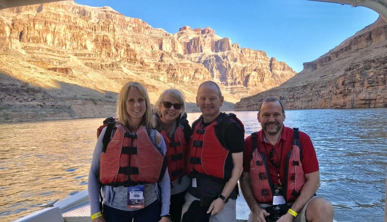 Grand Canyon Helicopter Tour and Colorado Riverboat Cruise Family