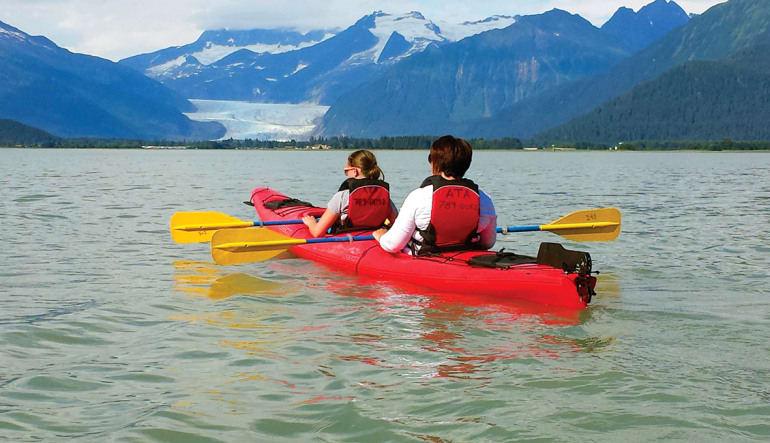 Kayaking Mendenhall Glacier View Tour, Juneau - 3.5 hours Tandem
