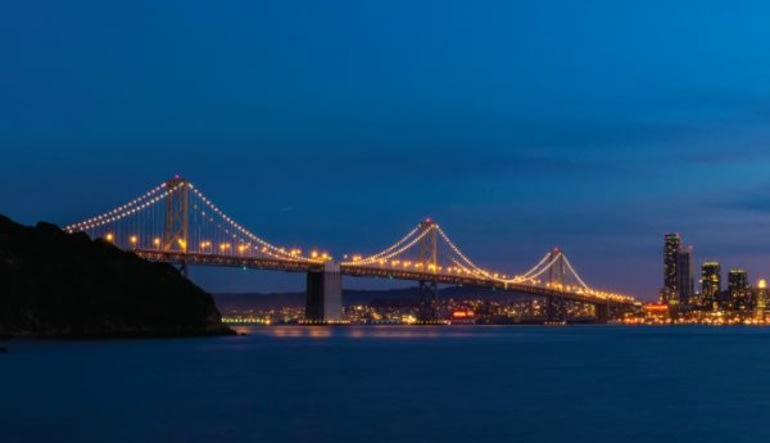 San Francisco Bus Tour, Double Decker Night Tour - 1.5 Hours Bridge Traffic
