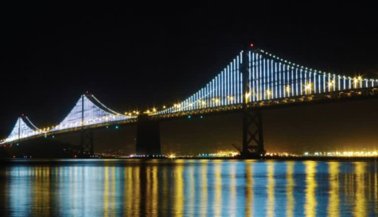San Francisco Bus Tour, Double Decker Night Tour - 1.5 Hours Bridge