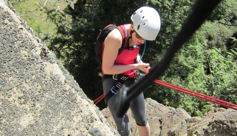Adventure Terra Introduction to Rock Climbing Lady