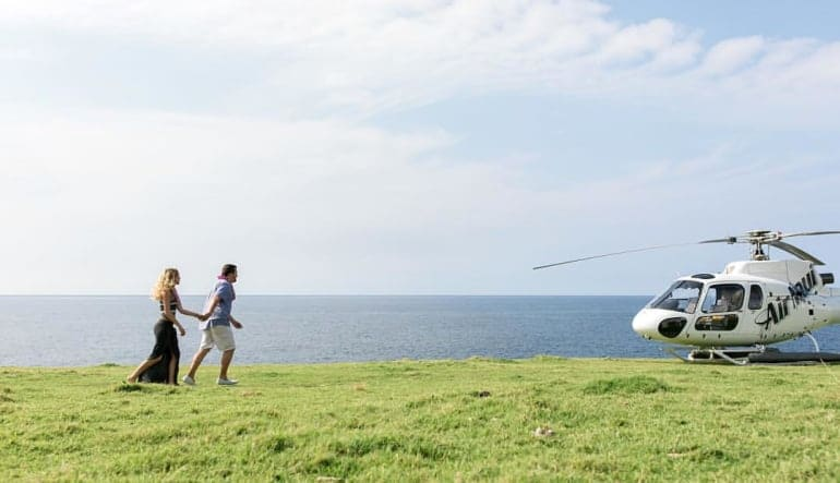 Helicopter Tour Maui, Hana and Haleakala with Cliff Side Landing - 1 Hour 15 Minutes Couple