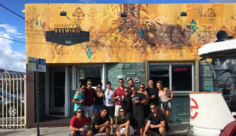 Private Cycle Party Wynwood, Happy Hour Pub Crawl - 2 Hours Group