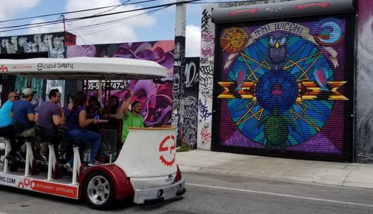 Private Cycle Party Wynwood, Happy Hour Pub Crawl - 2 Hours Bike