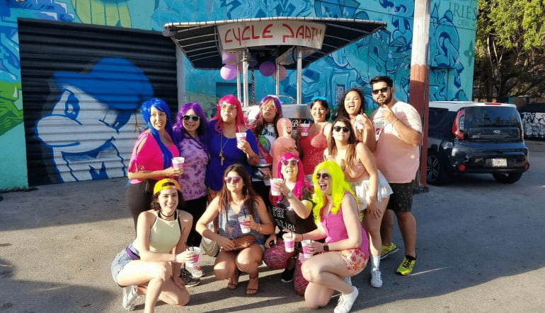 Private Cycle Party Wynwood, Happy Hour Pub Crawl - 2 Hours Dress Up