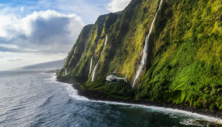 Helicopter Tour Big Island, Circle Island Experience - 2.5 Hours Cliff Side
