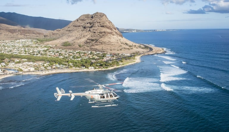 Helicopter Tour Oahu, North Shore Adventure Flight - 20 Minutes Shoreline