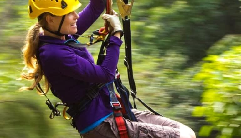 Helicopter Tour Big Island, Family Air and Zipline Adventure - 6 Hours Lady