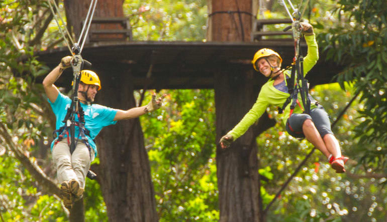 Helicopter Tour Big Island, Family Air and Zipline Adventure