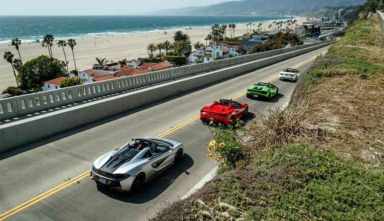 Los Angeles Supercar Tour with Passenger Ride Along - 3 Hours (Drive 4 Different Supercars!)