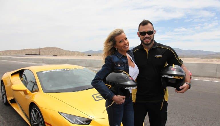 Lamborghini Huracan 5 Lap Drive (Includes Hotel Shuttle Pick Up)-Las Vegas Lady