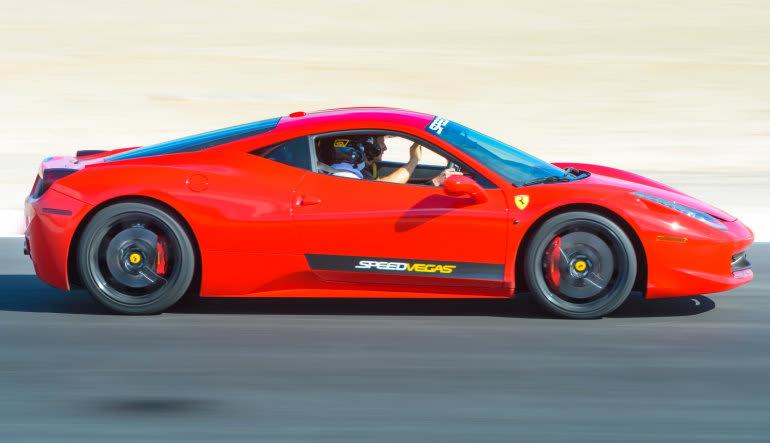 Ferrari 488 5 Lap Drive Las Vegas with Hotel Shuttle