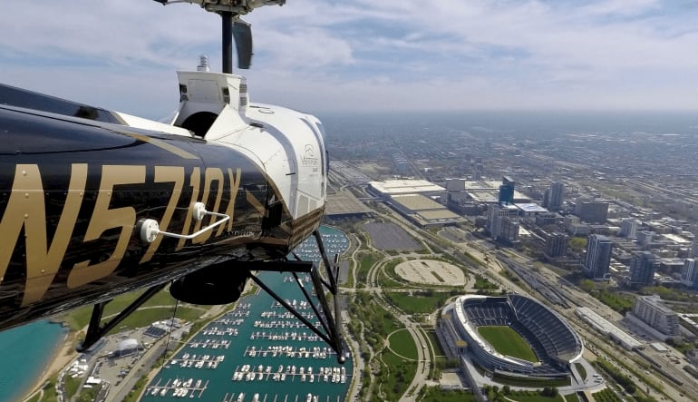 Helicopter Ride Discover Chicago Premium - 5 Minutes Inflight