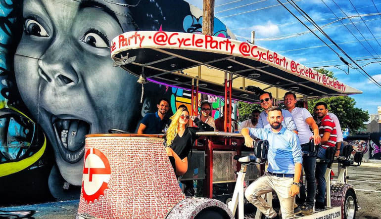 Cycle Party Wynwood Insta Tour, Miami, 1.5 Hours