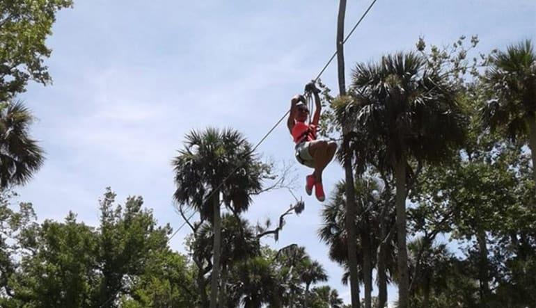 Ziplining Daytona, Two Course Adventure - 2 Hours 30 Minutes