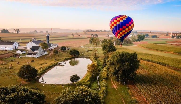 Hot Air Balloon Ride Lancaster, Pennsylvania - 1 Hour Flight