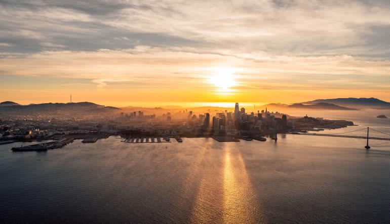 San Francisco Sunset Flight Flight